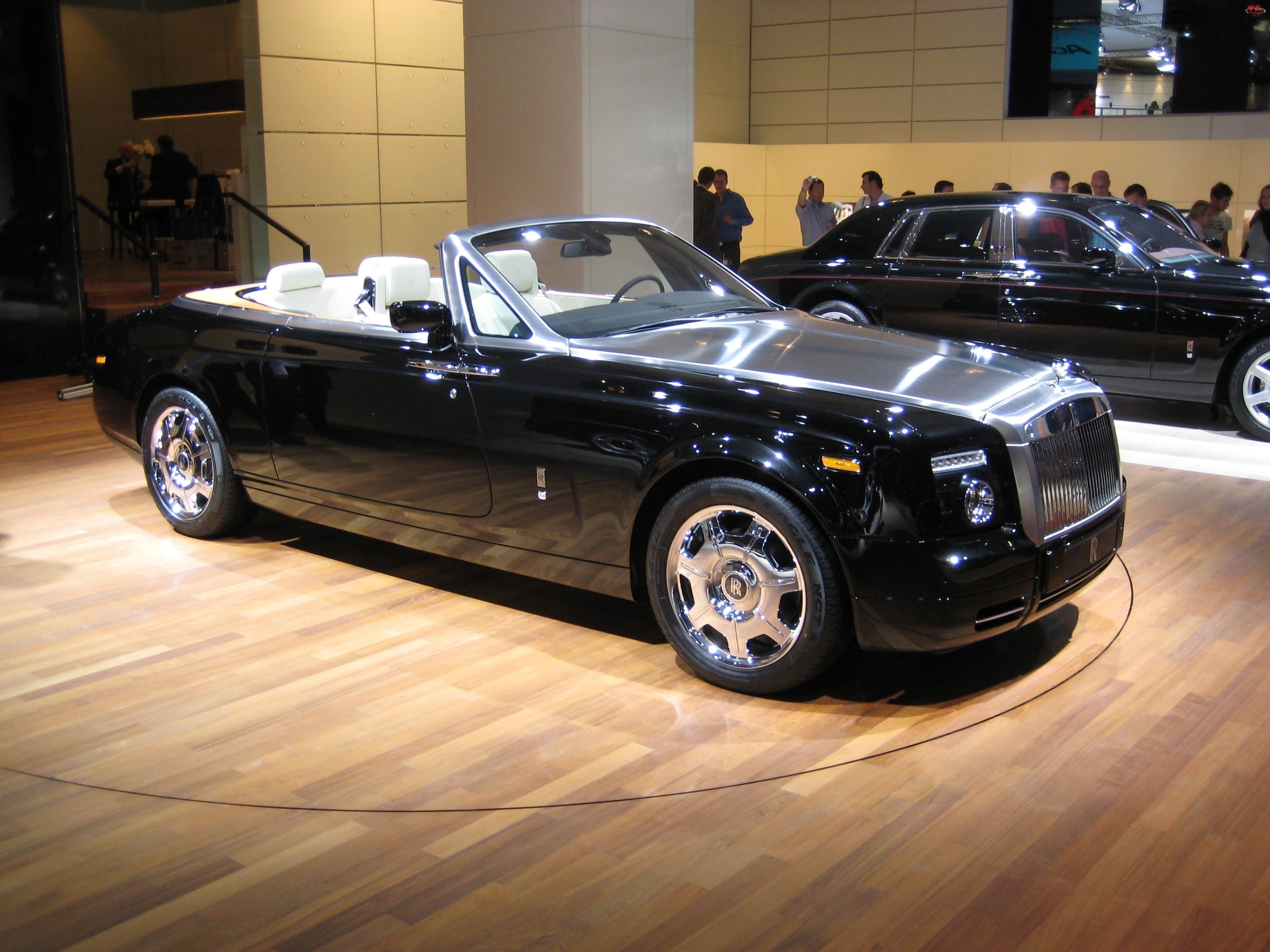 Czarny, Maska, Rolls-Royce Phantom Drophead, Metaliczna