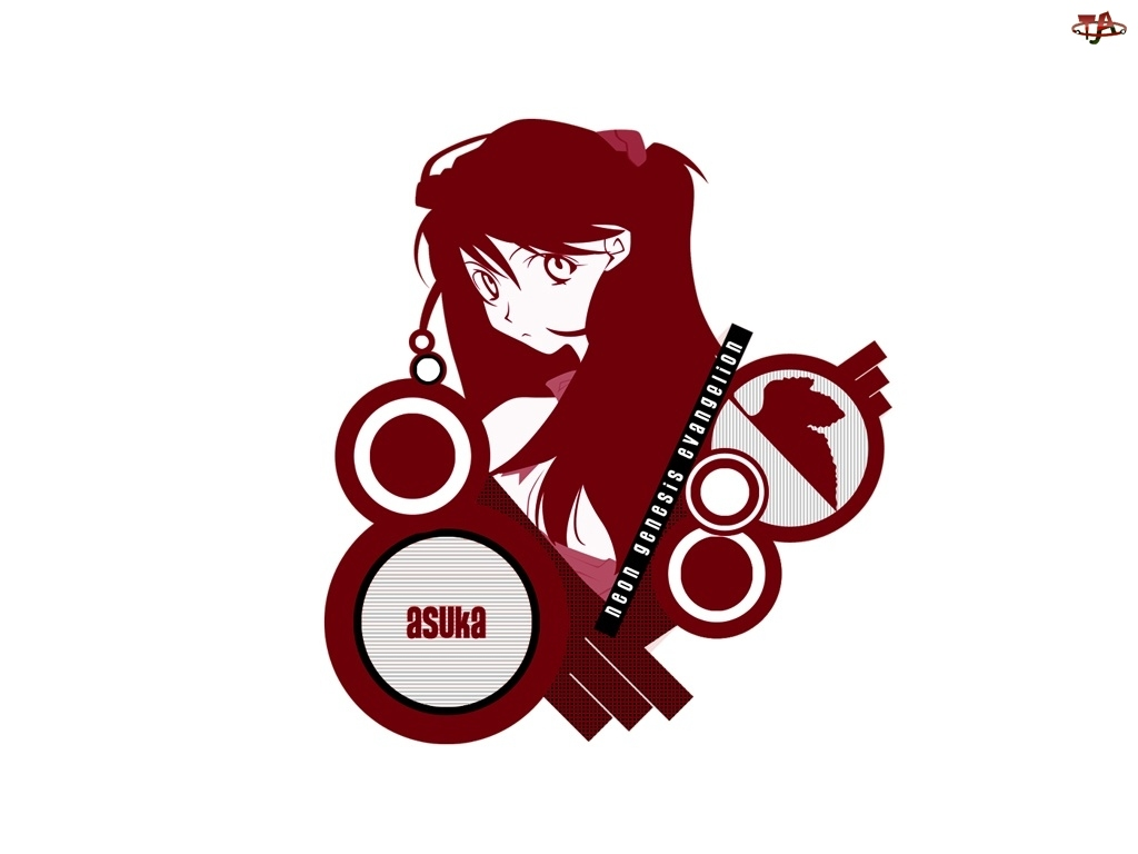 Neon Genesis Evangelion, kobieta, asuka, znaczek