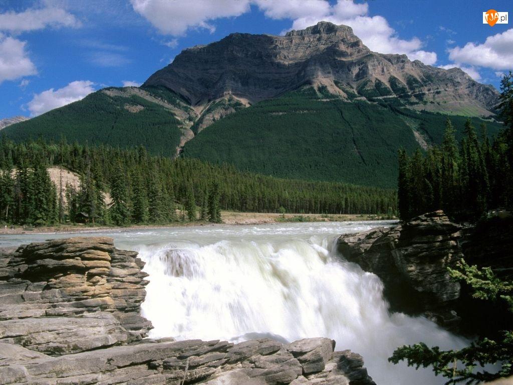 Góra, Kanada, Wodospad