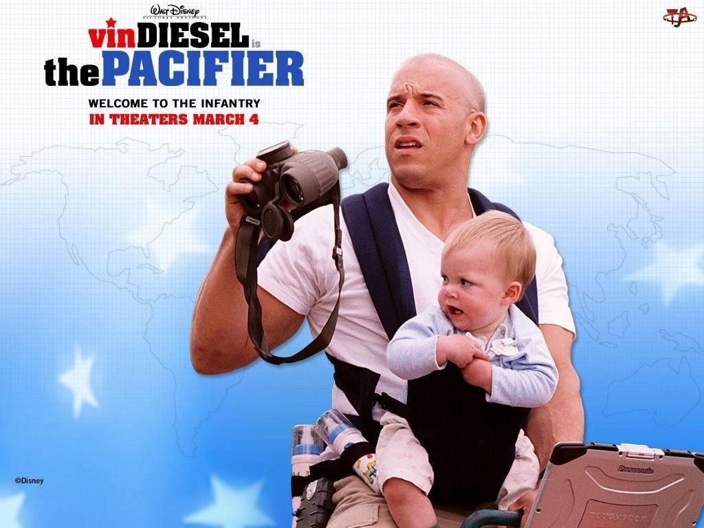 dziecko, Vin Diesel, lornetka