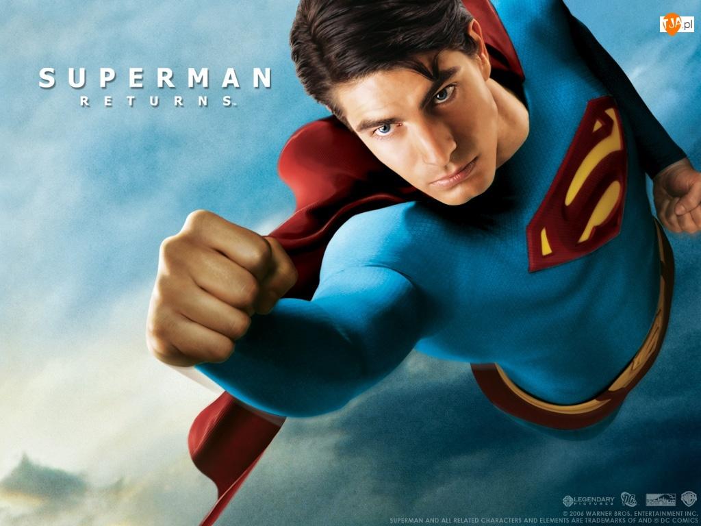 Superman Returns, pięść, Brandon Routh, leci