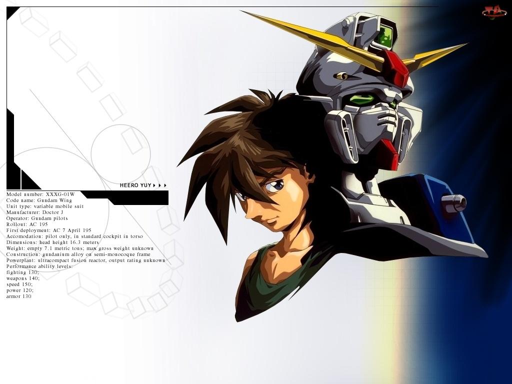 maska, Gundam Wing, twarz