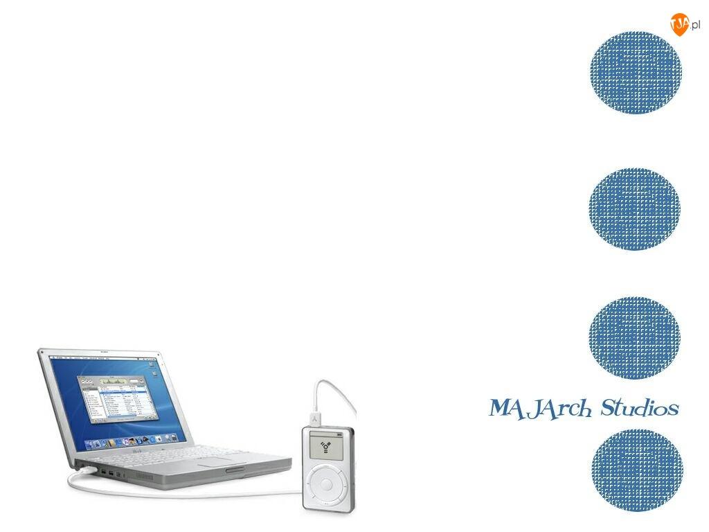Apple, laptop, mp4