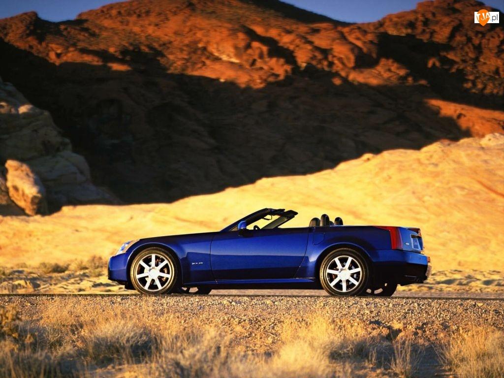 Pustynia, niebieski, Cadillac XLR