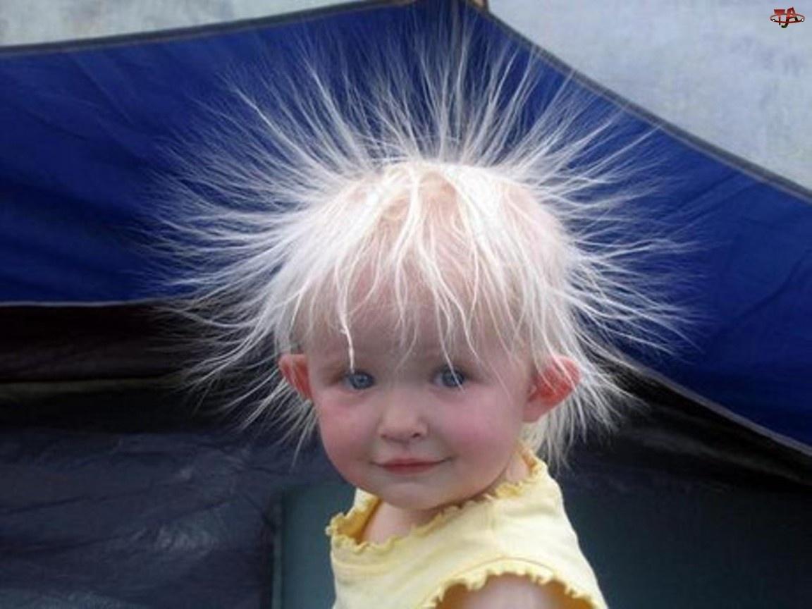 Włosy, Dziecko, Naelektryzowane