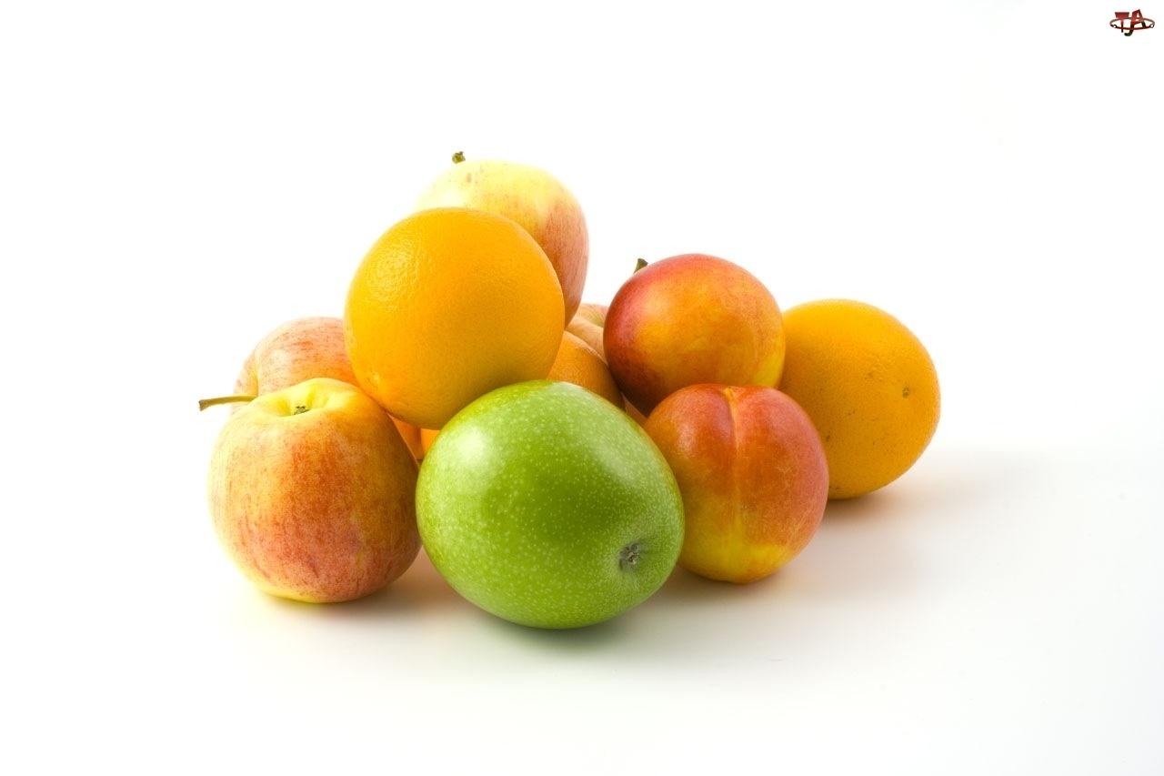 Pomarańcza, Owoce, Kompozycja, Jabłka
