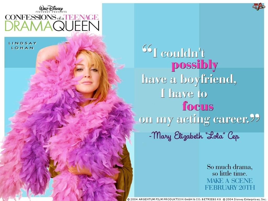 Confessions Of A Teenage Drama Queen, pióra, Lindsay Lohan, szal