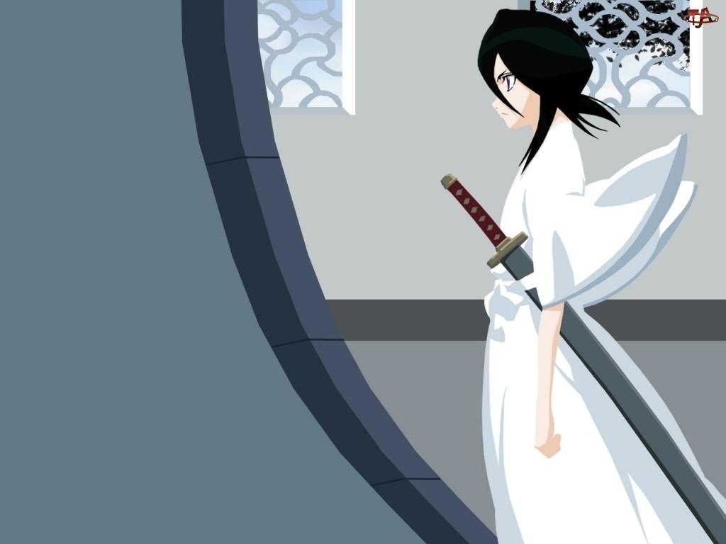 okno, Bleach, katana, kimono, kobieta