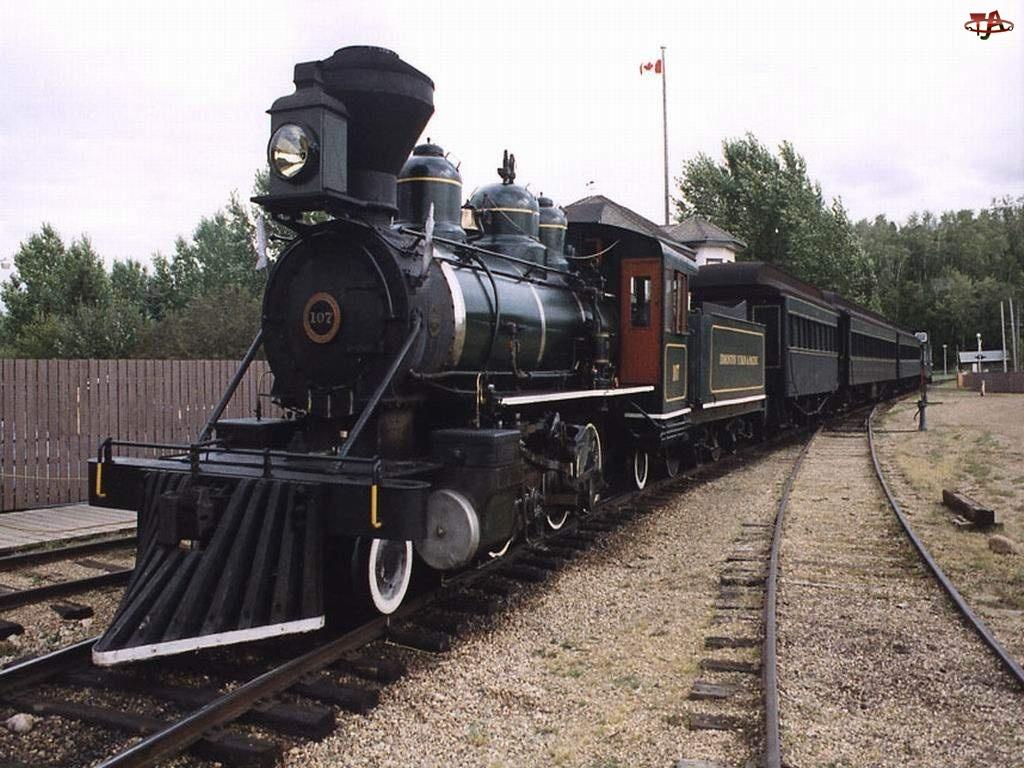 Stary, Wagony, Pociąg, Parowy
