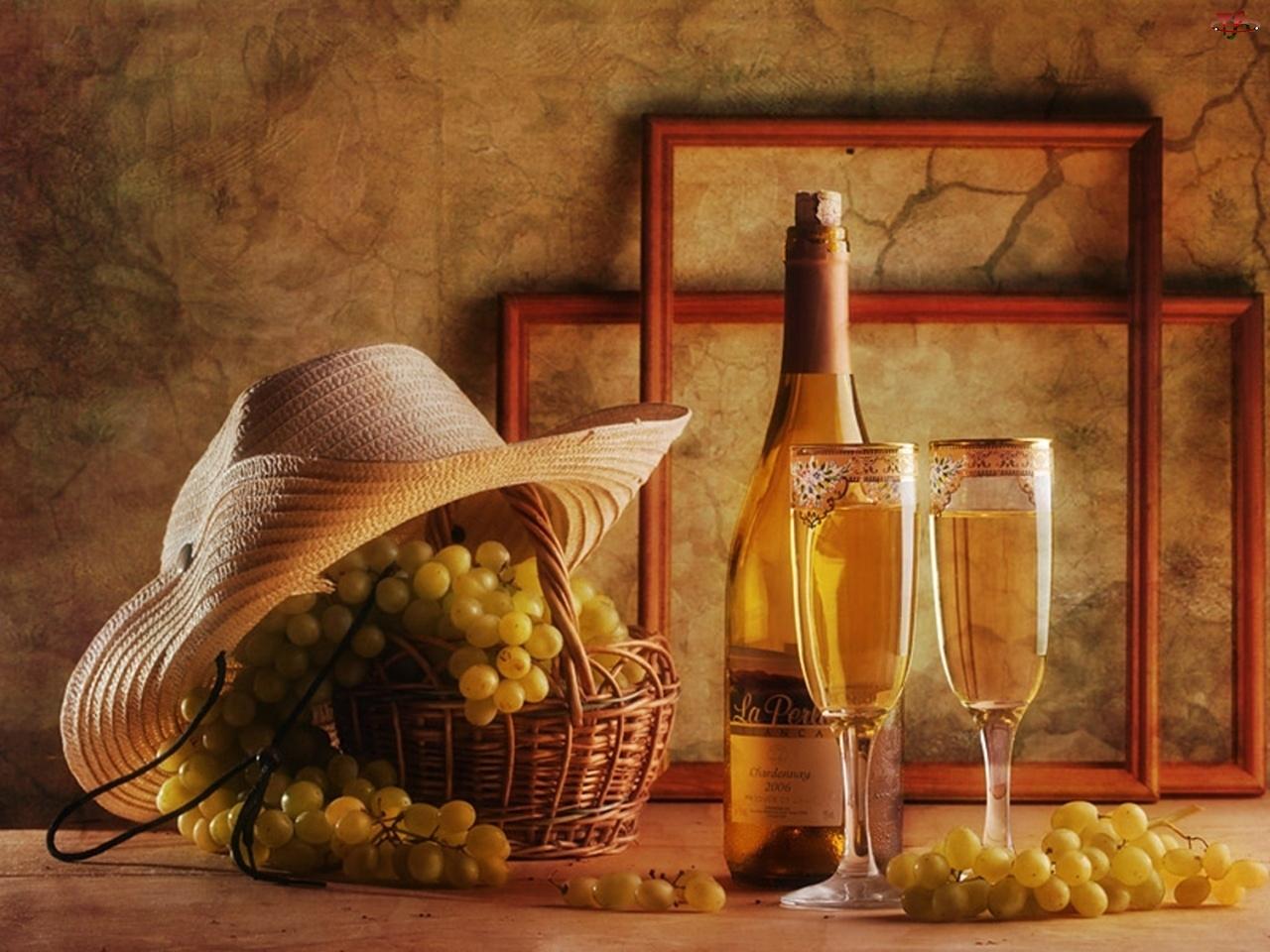 Winogrona, Kieliszki, Wino