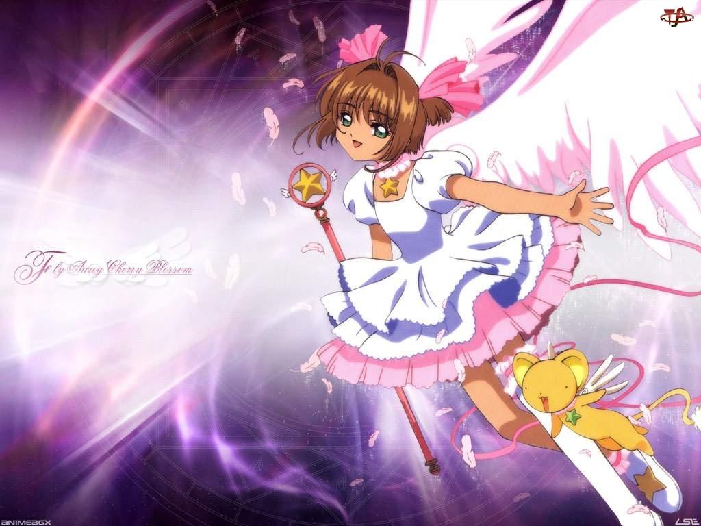Cardcaptor Sakura, kij różdżka, pluszak, napisy
