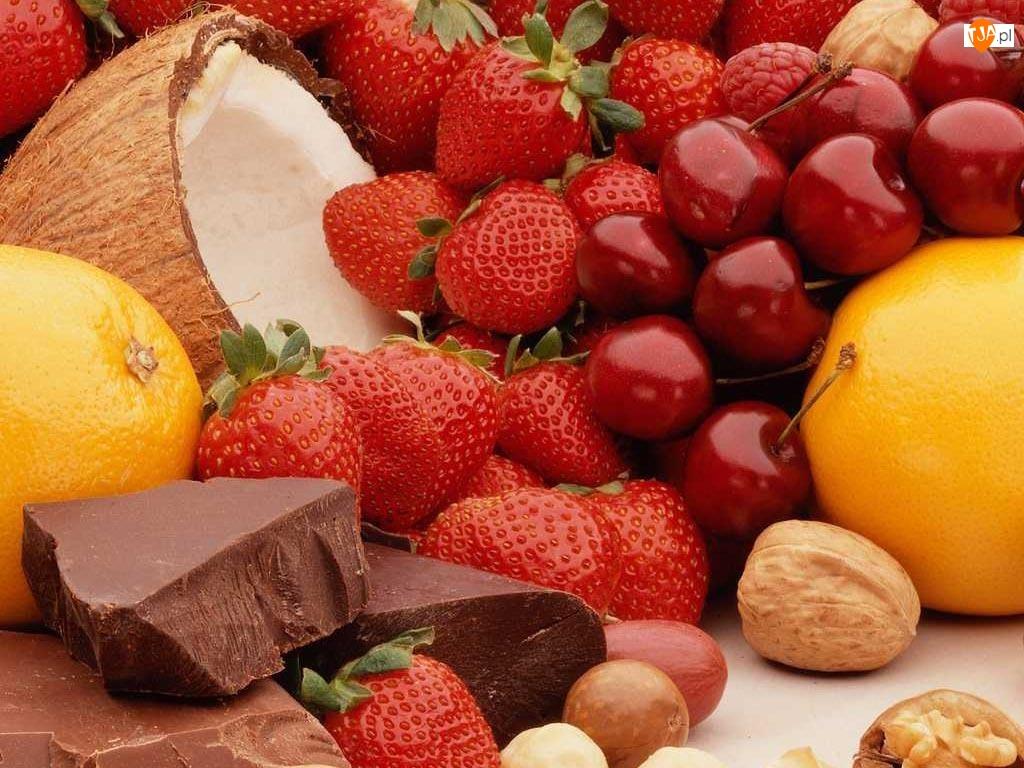 Czekolady, Różne, Orzechy, Owoce, Kawałki