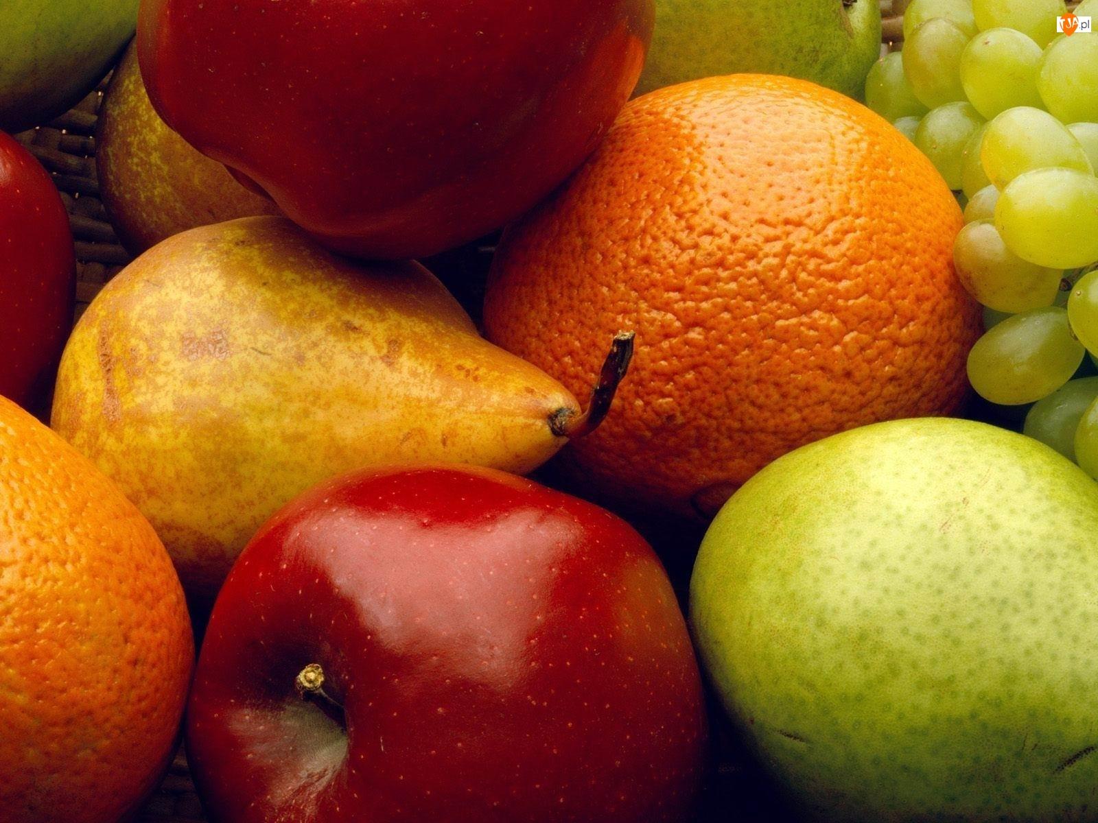 Pomarańcza, Kolorowe, Jabłka, Owoce, Gruszki