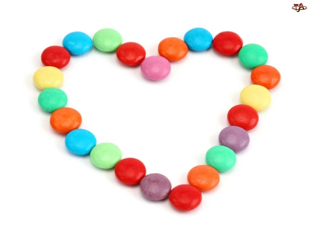 Cukierki, Walentynki, Serce