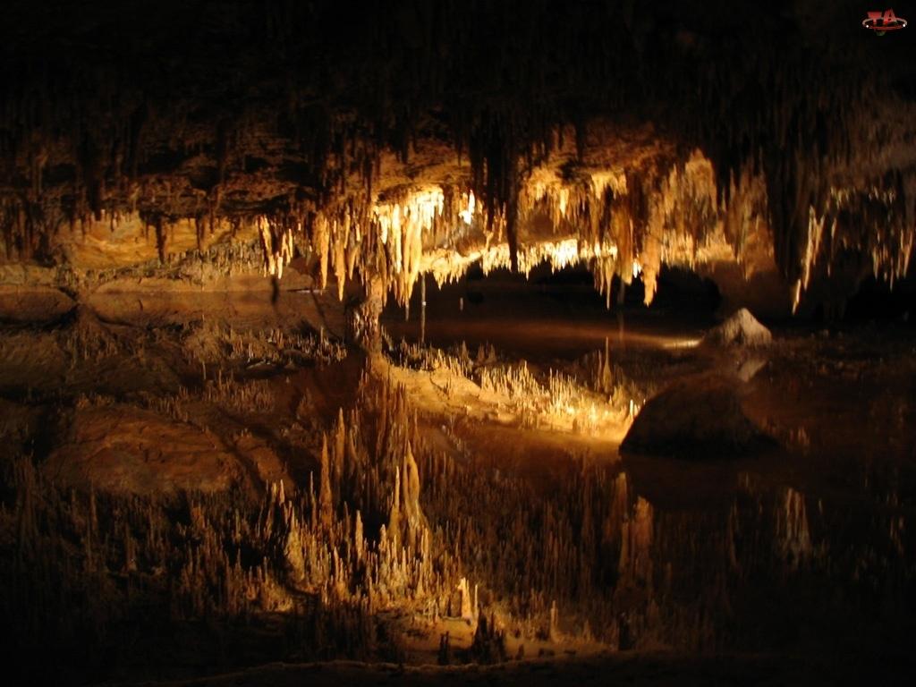 Padirac, Rzeka, Jaskinia, Podziemna