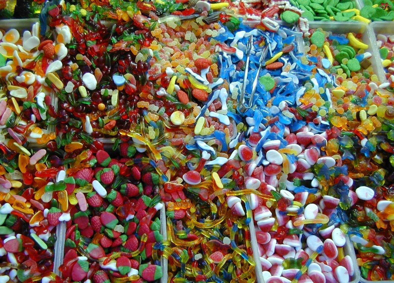 Cukierki, Kolorowe, Żelowe