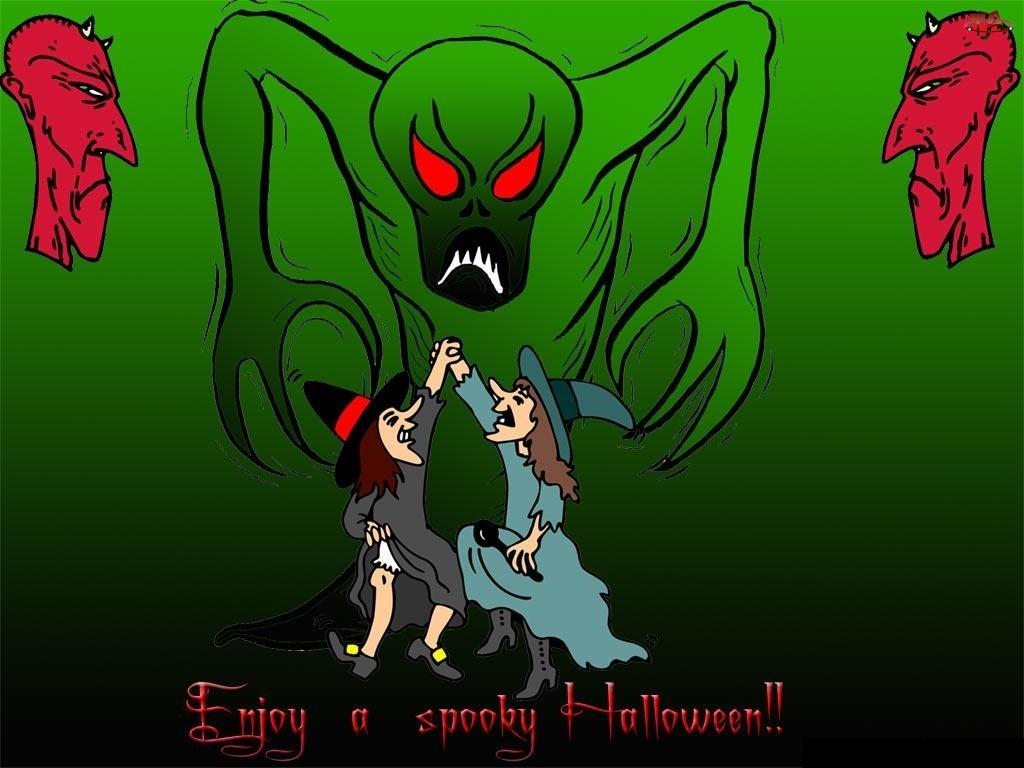 Halloween, zielona zjawa