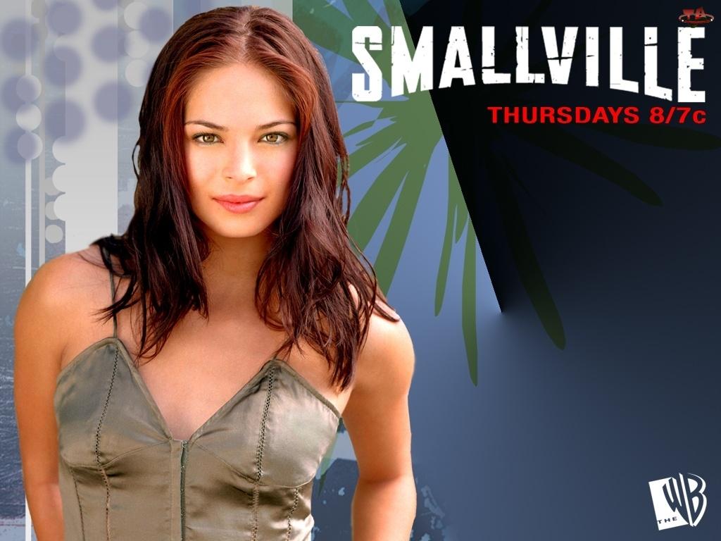 Tajemnice Smallville, napis, Kristin Kreuk, bluzka