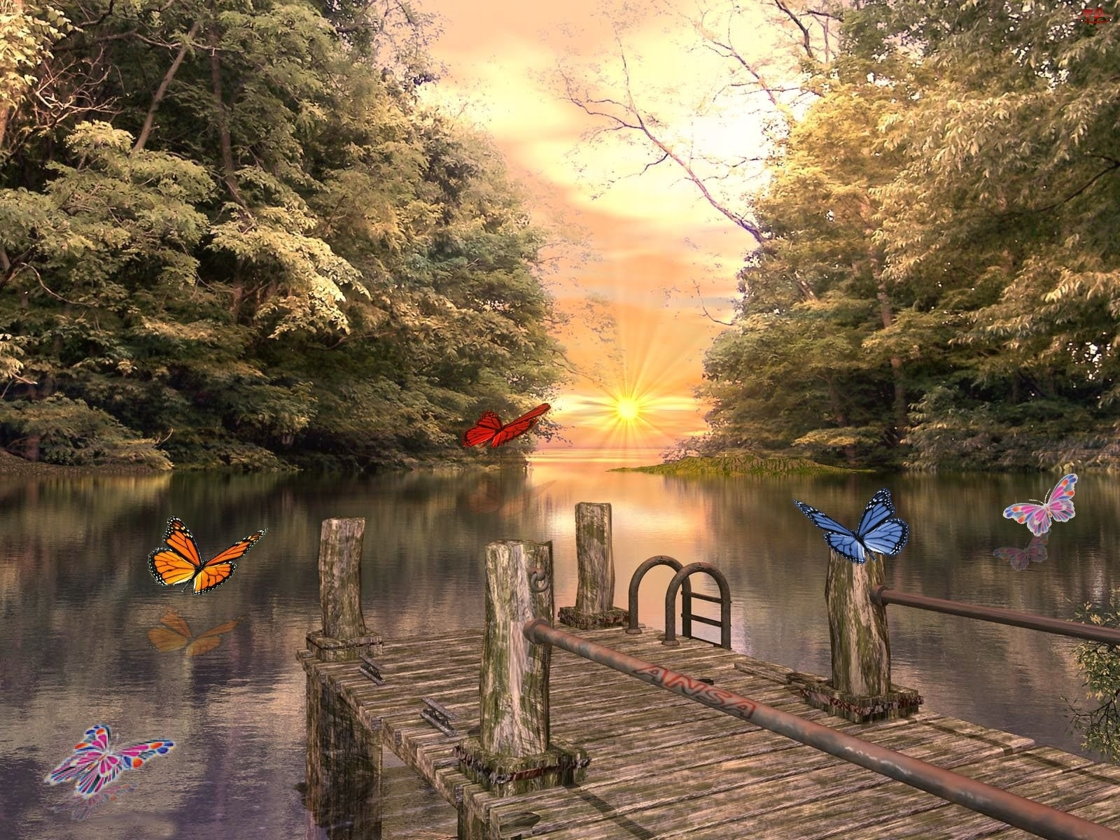 Pomost, Jezioro, Motyl
