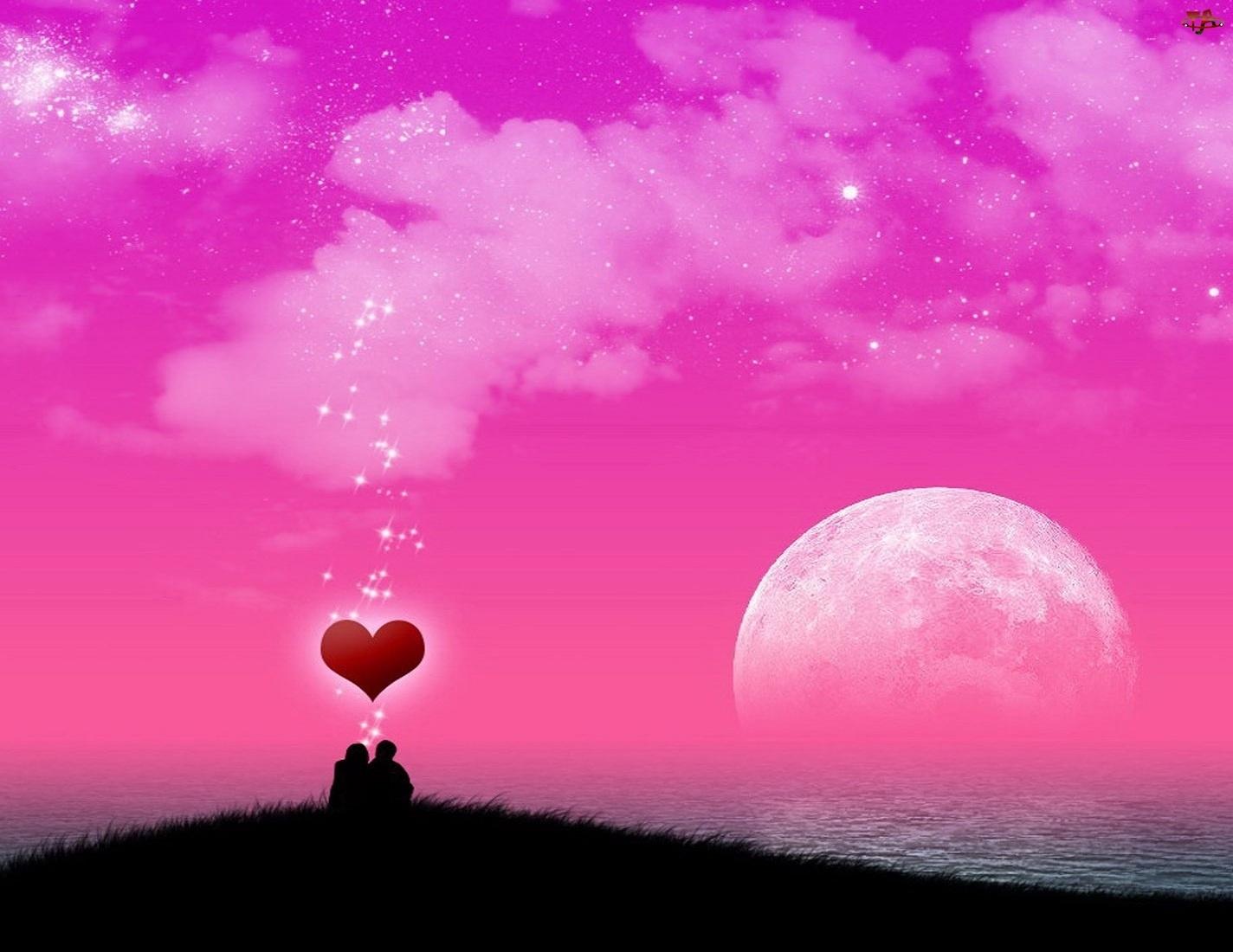 Księżyc, Zakochana, Para