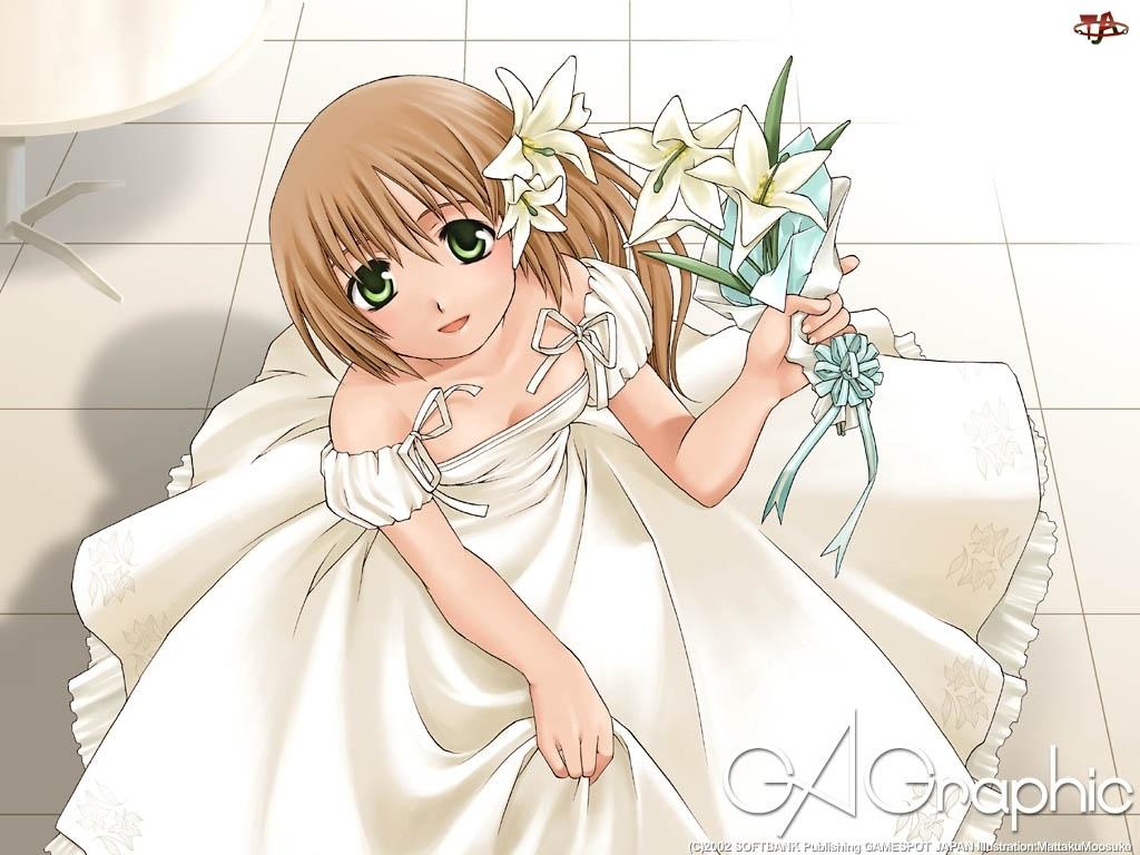 Ga Graphic, kwiaty, suknia, kobieta