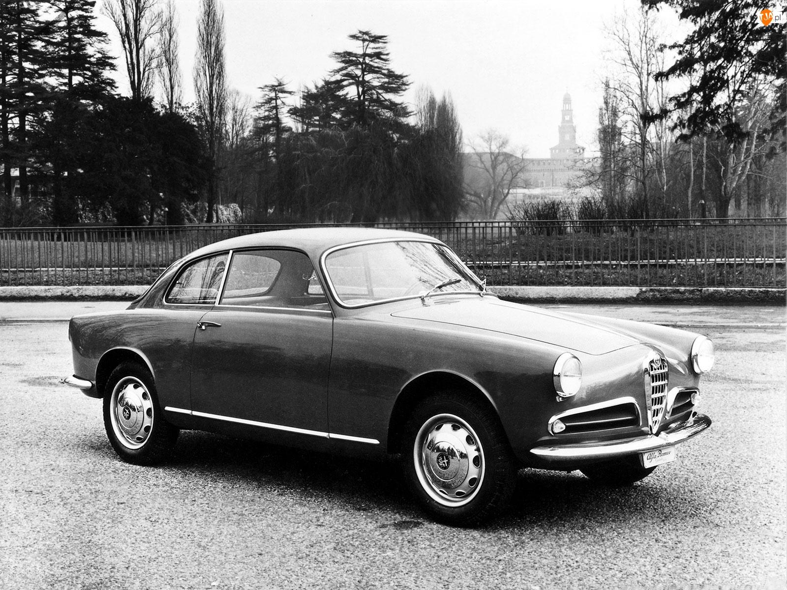 Alfa Romeo, drzwi, koła , maska