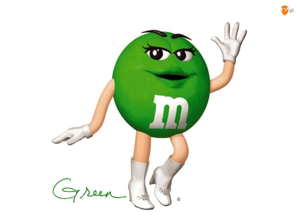 Ręce, Zielona, M&M, Drażetka, Nogi