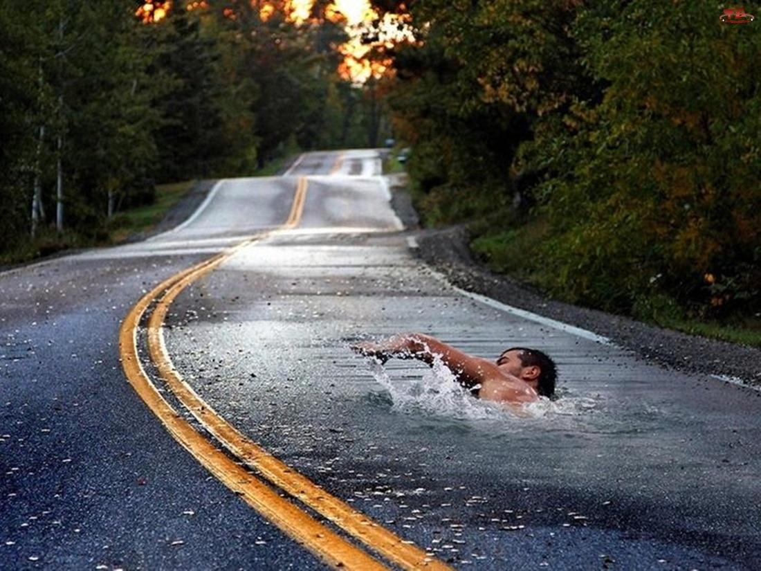 Droga, Pływak