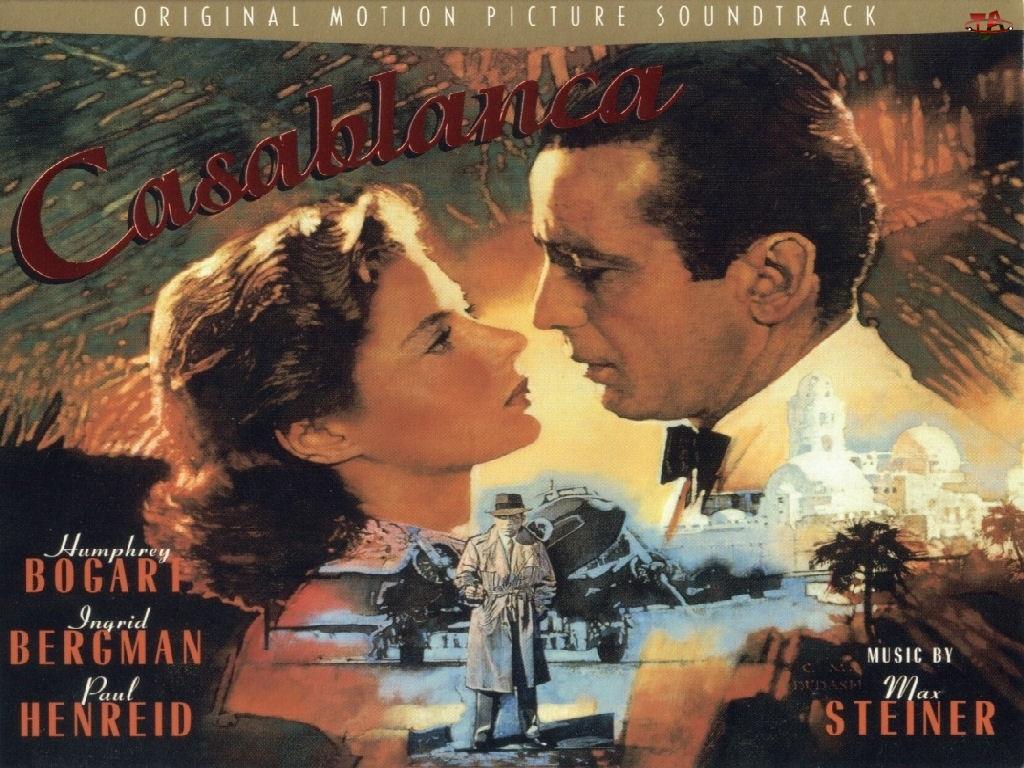obrazek, Ingrid Bergman, Casablanca, Humphrey Bogart