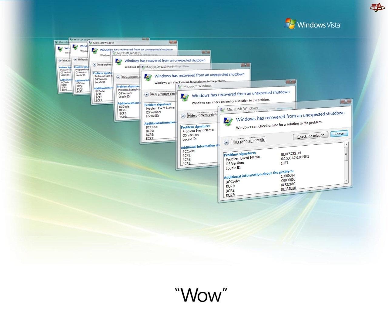 Okienka, Błąd, Windows, Vista