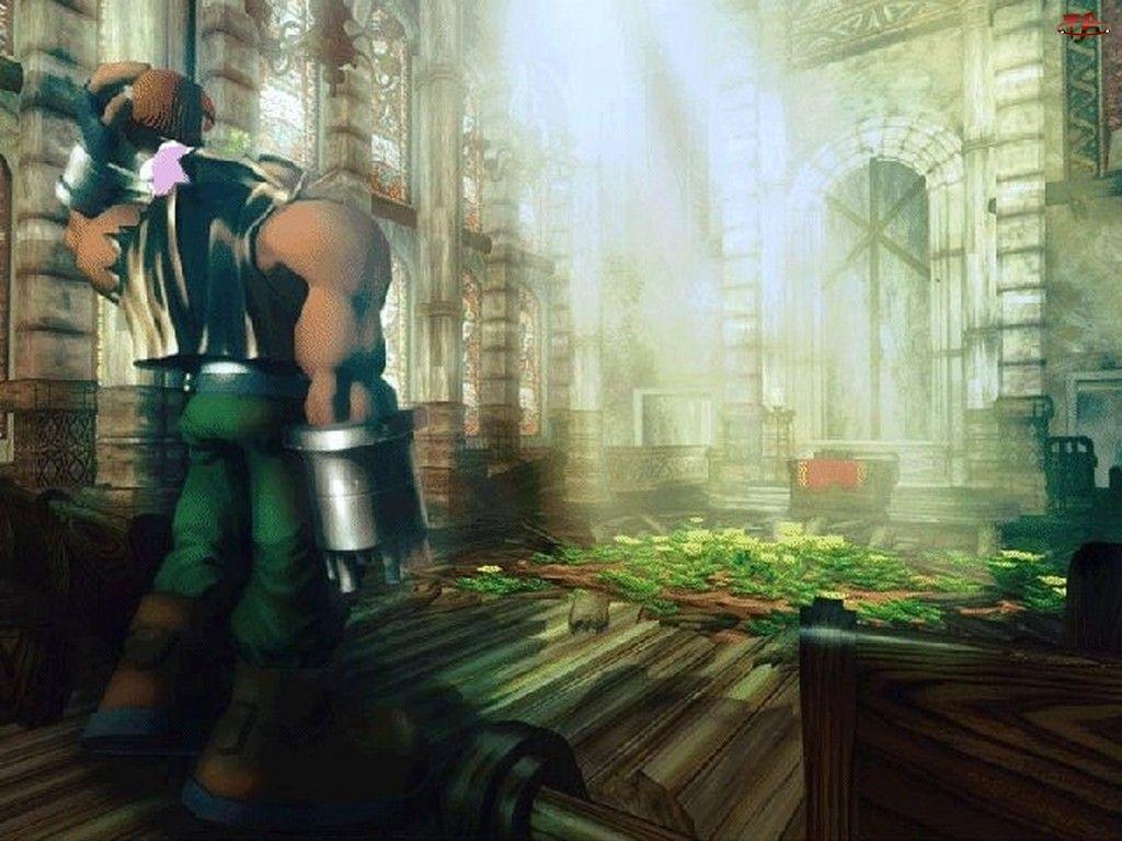 Final Fantasy, świątynia, postać, broń