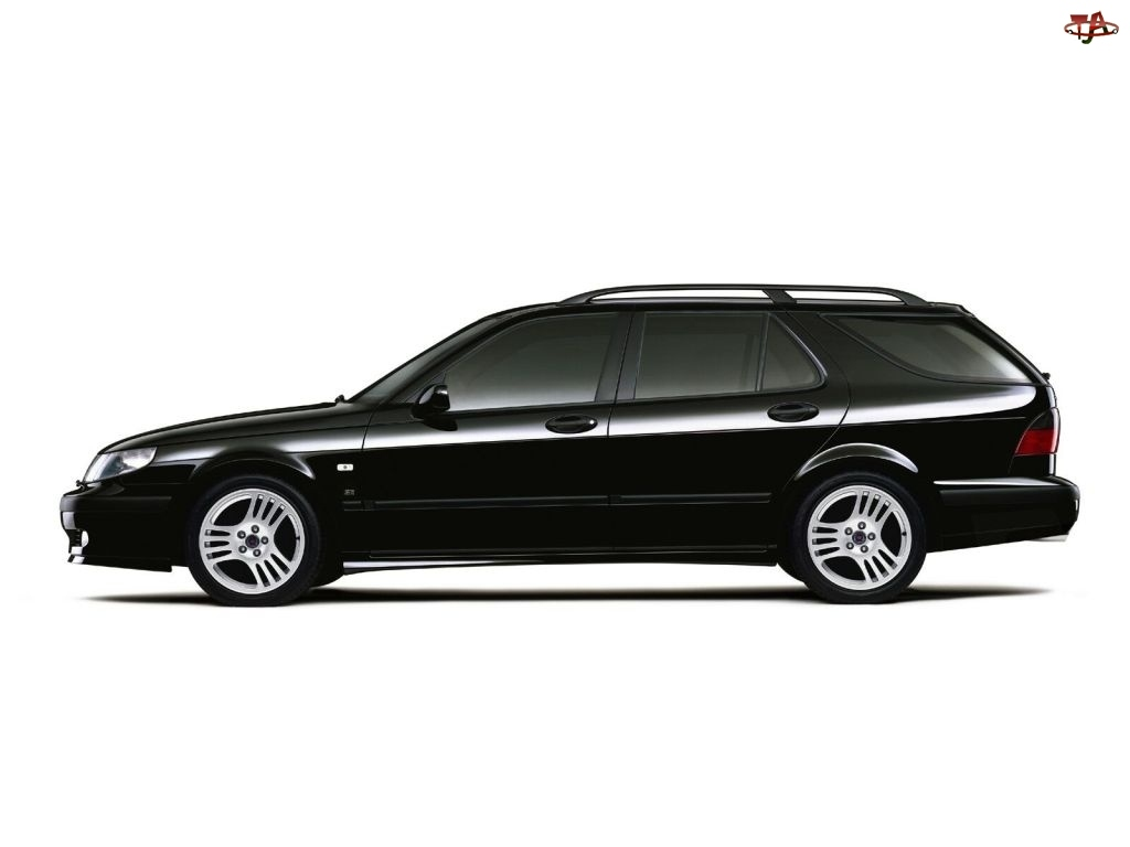 kombi, Czarny, Saab 9-3