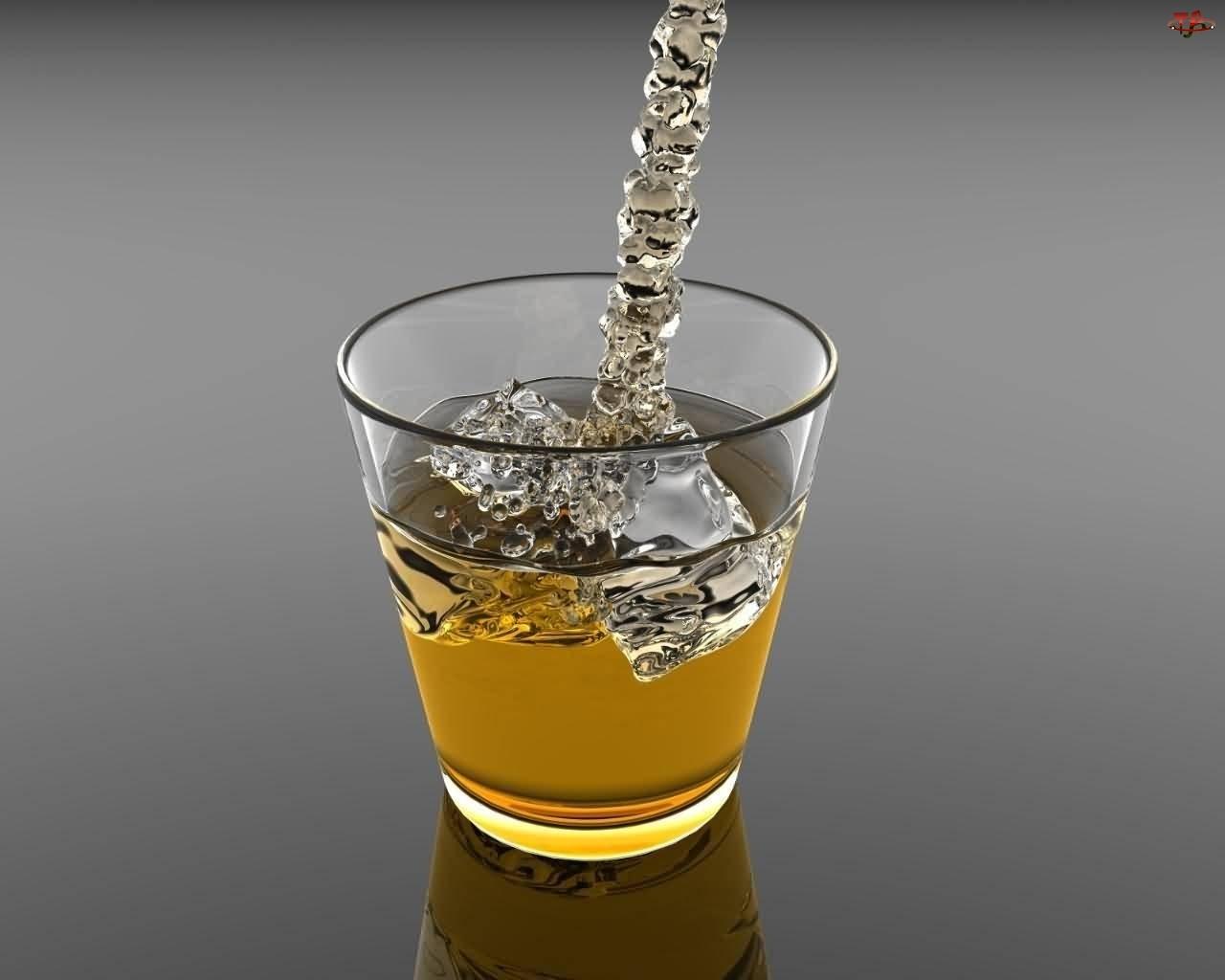 Lód, Drink, Szklana