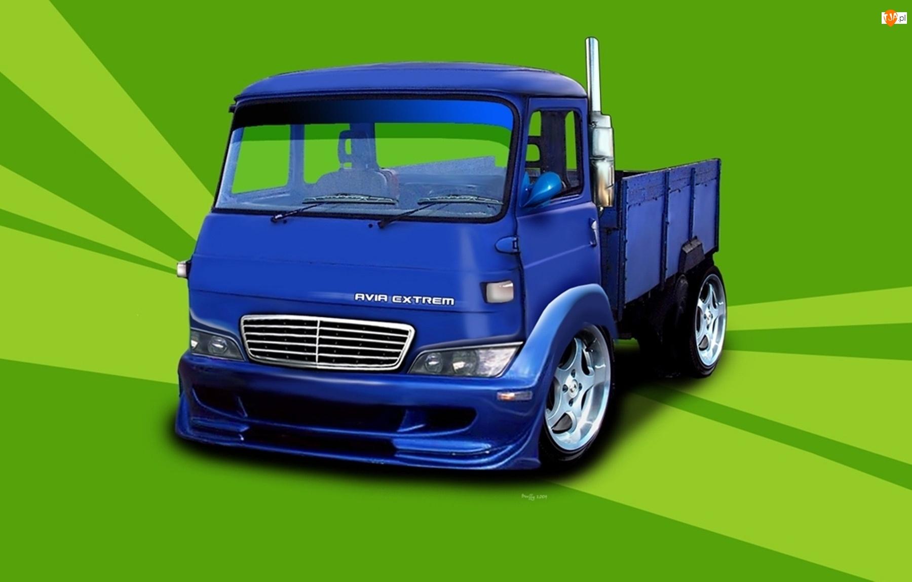 Ciężarówka, Grafika, Avia, Paka