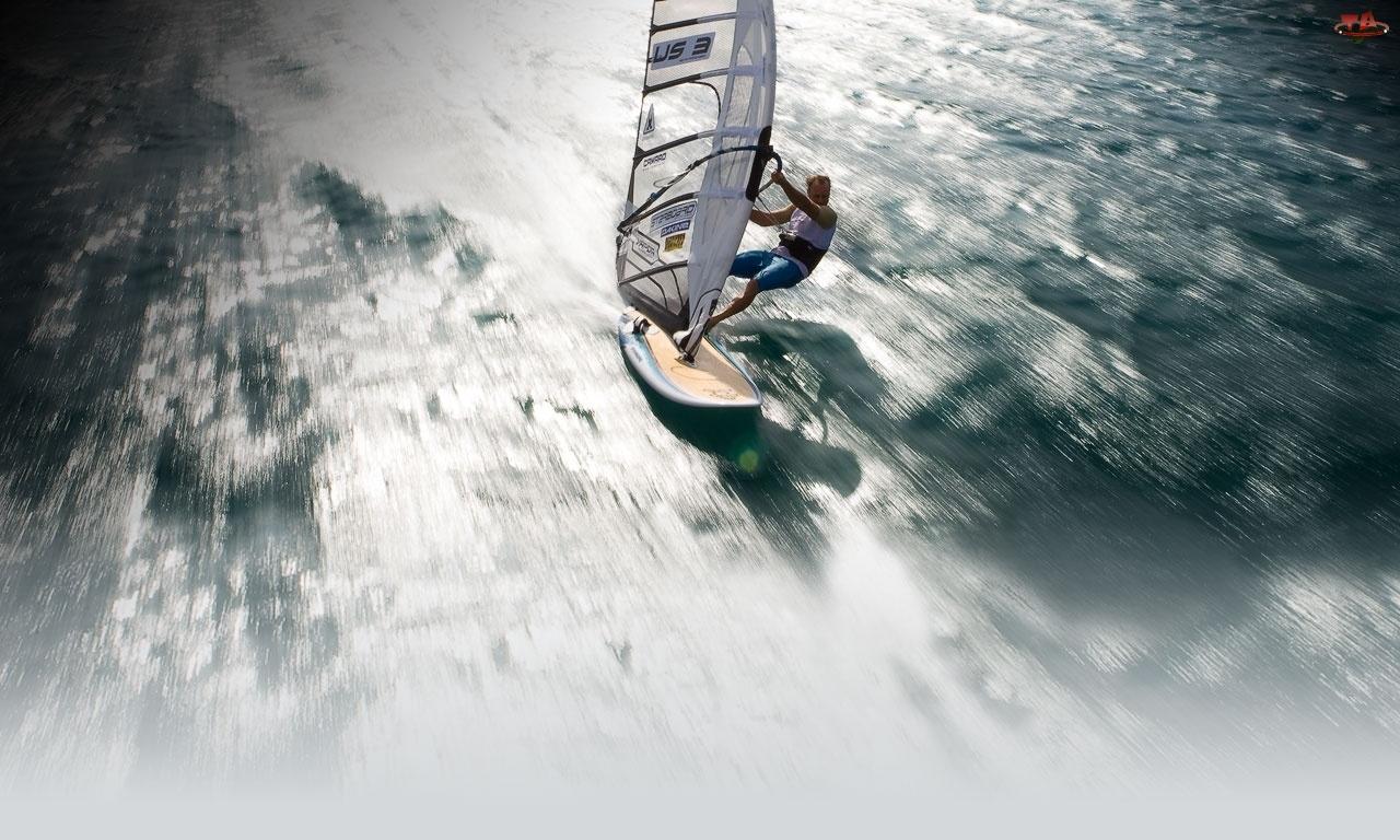 Deska, Windsurfing, Starboard, Ocean