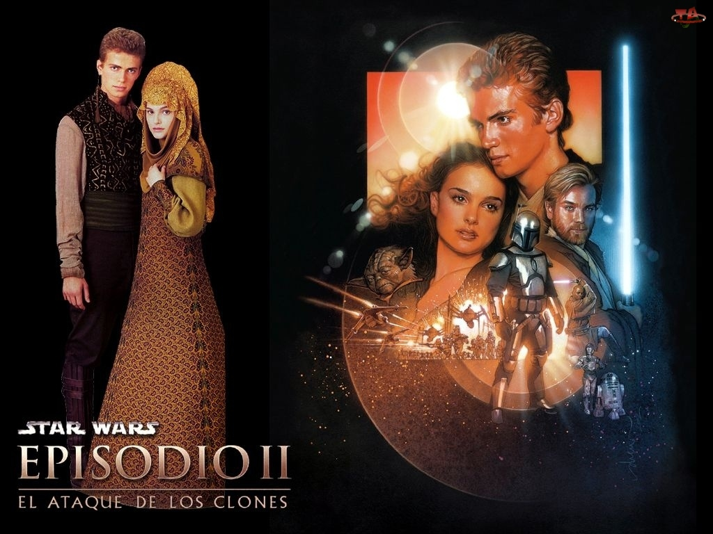 Natalie Portman, laser, Star Wars, suknia, Jake Lloyd, postacie