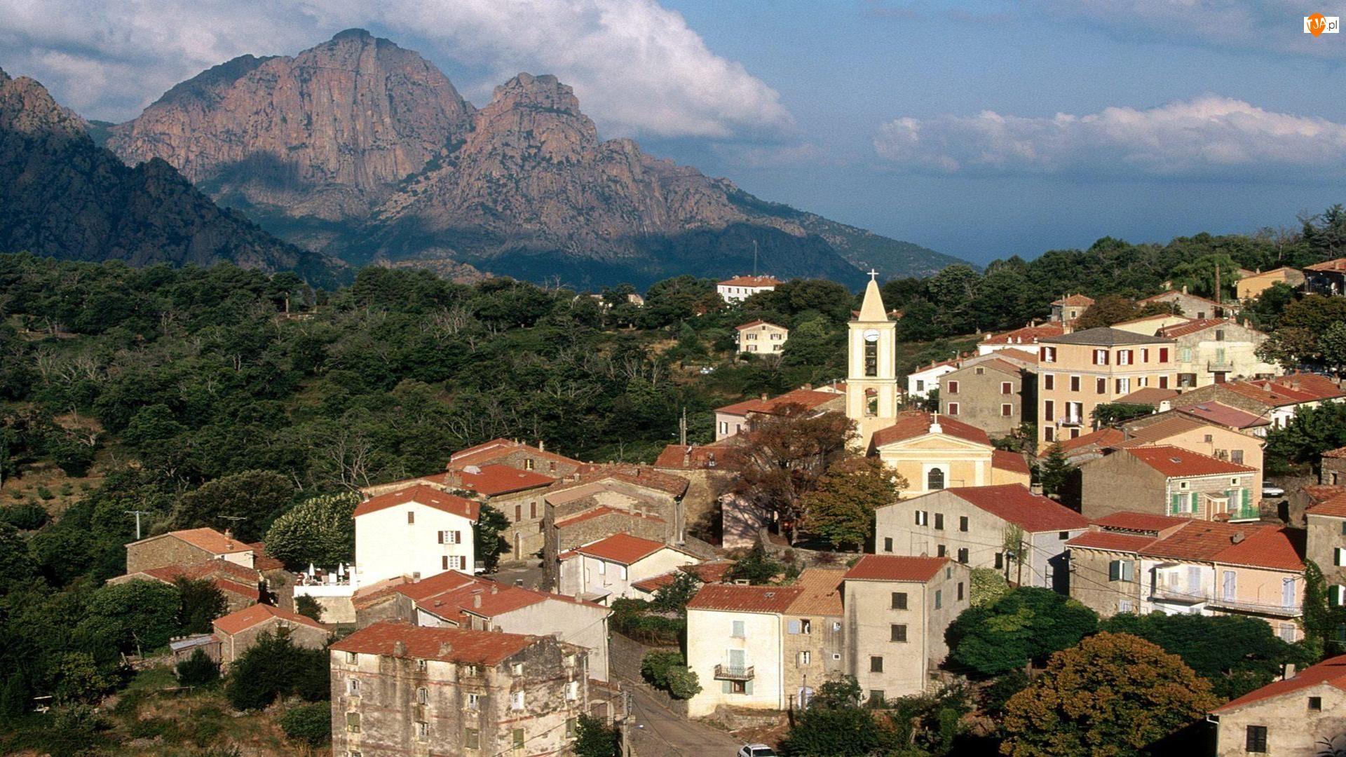 Wyspa, Domki, Korsyka, Góry