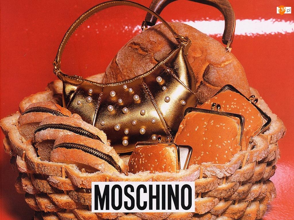 pieczywo, Moschino, portmonetka, torebka, chleb