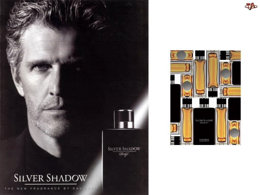shadow, flakon, Davidoff, mężczyzna, silwer, perfumy