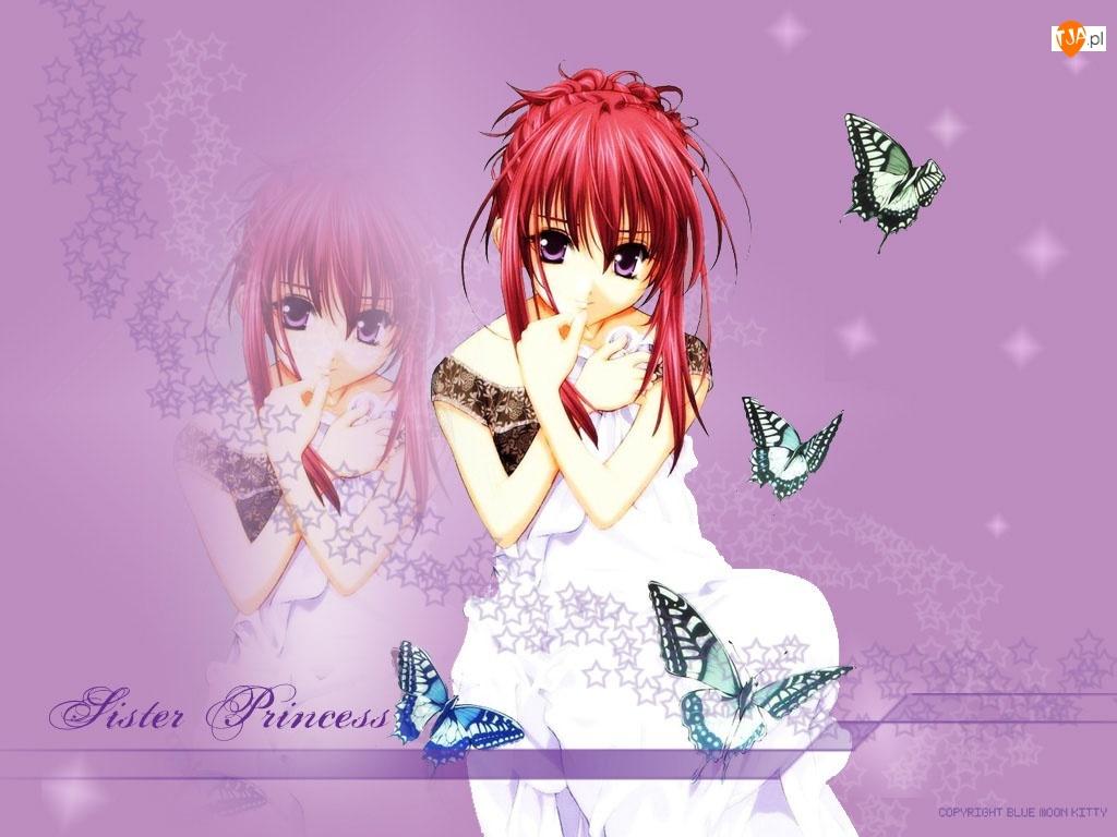 motylki, Sister Princess, czerwone włosy