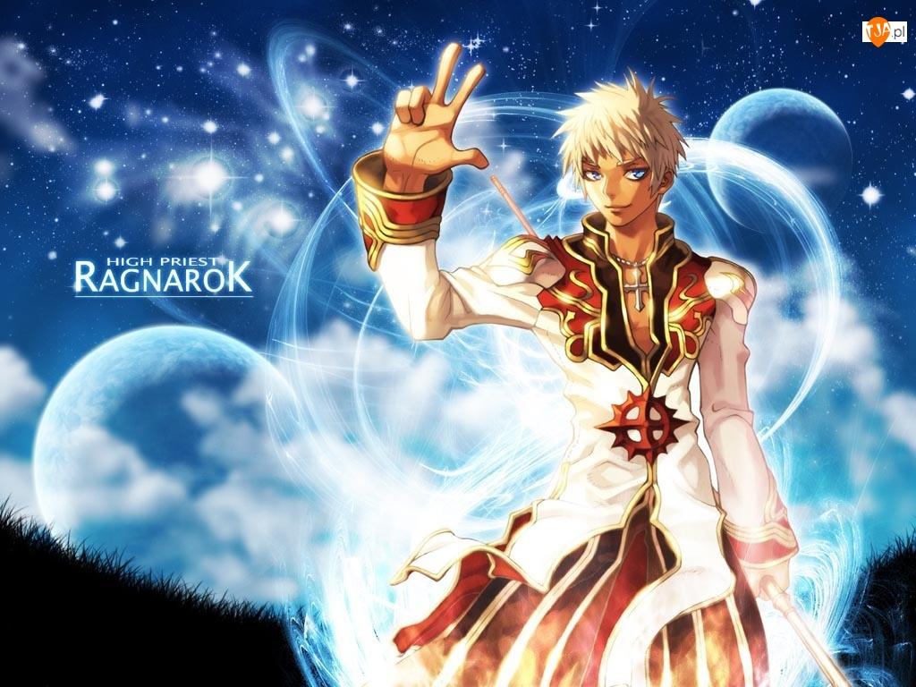 krzyż, planeta Ragnarok, mężczyzna, postać, niebo