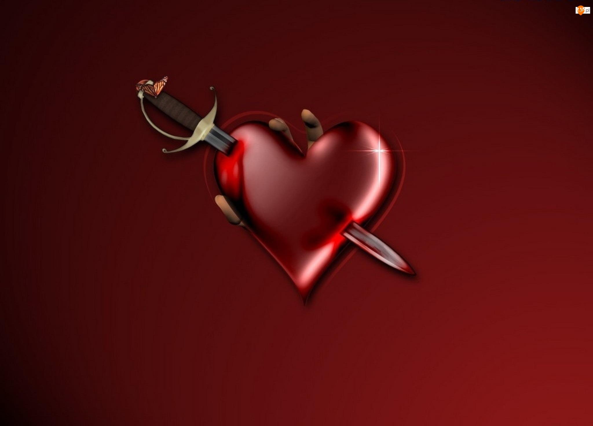Mieczem, Serce, Przebite