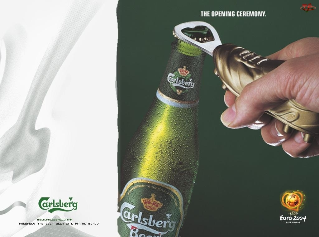 Piwo, Otwieracz, Calsberg, Butelka