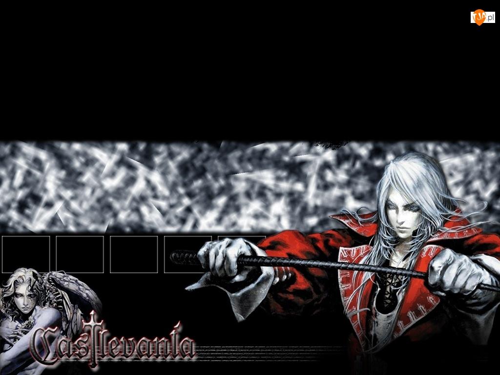 napis, Castlevania, postać, broń, ręce