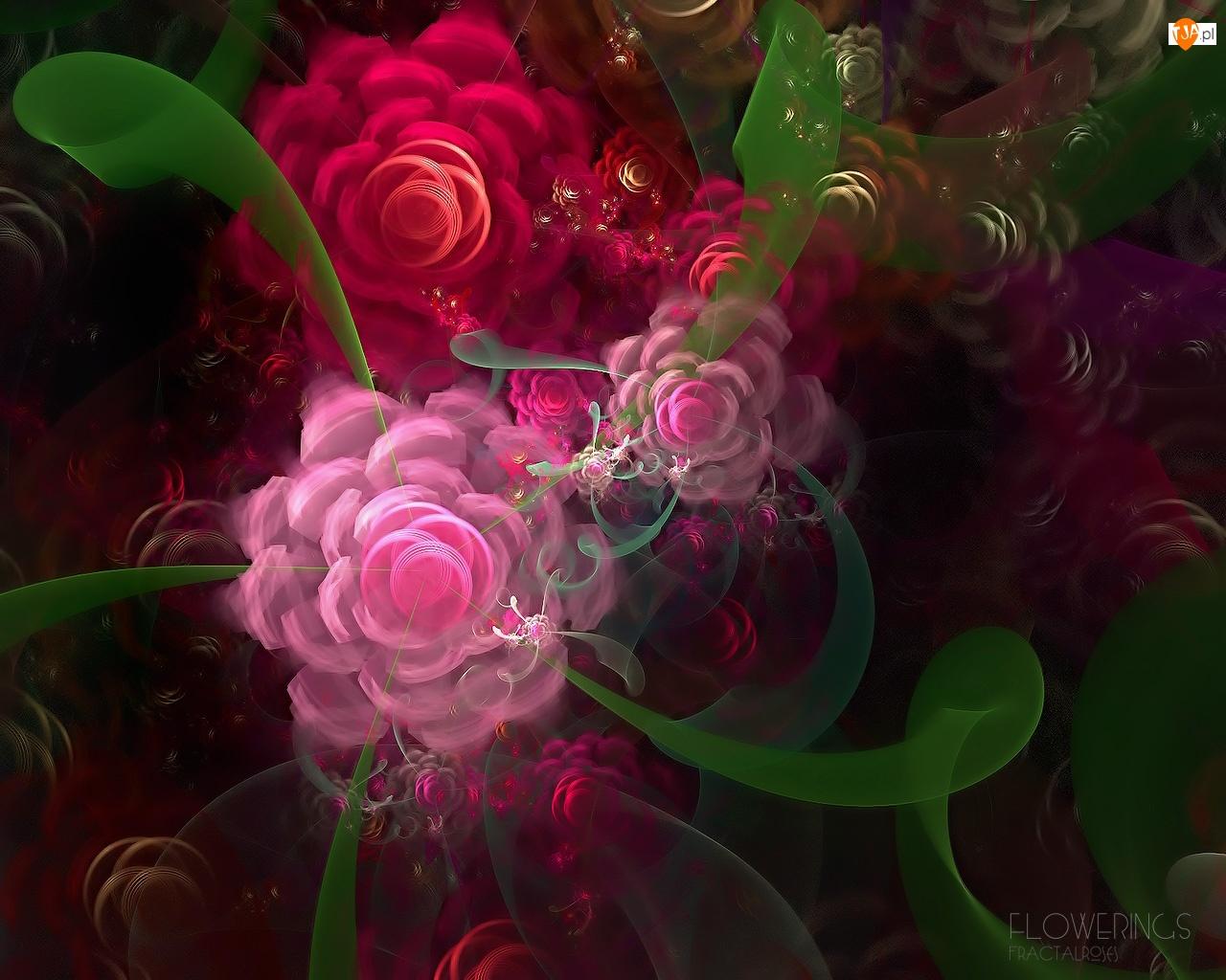 Artyzm, Kolorowe, Kwiaty