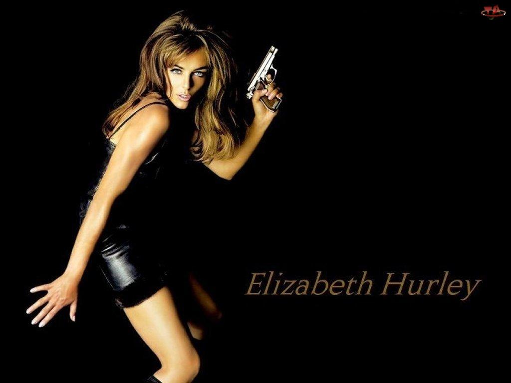 pistolet, Elizabeth Hurley, Sexy
