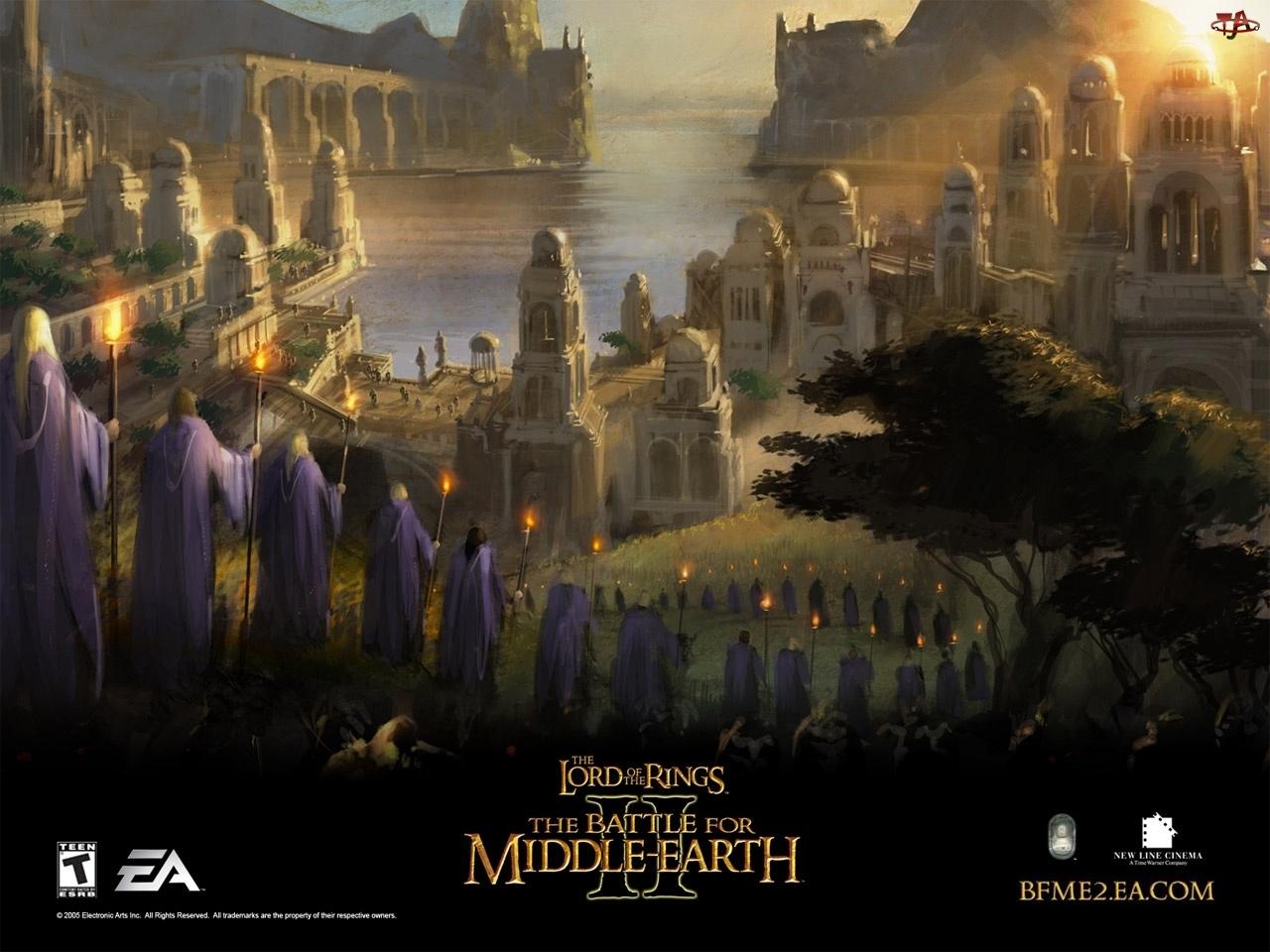 elfy, Lord of the Rings Botm 2, morze, miasto, postacie