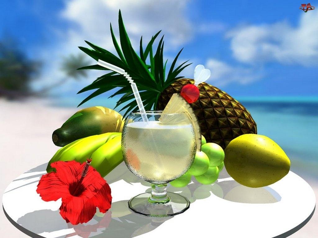 Drinki, owoce