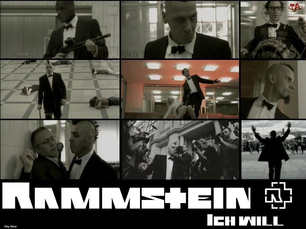 Rammstein, zdjęcia, broń, film