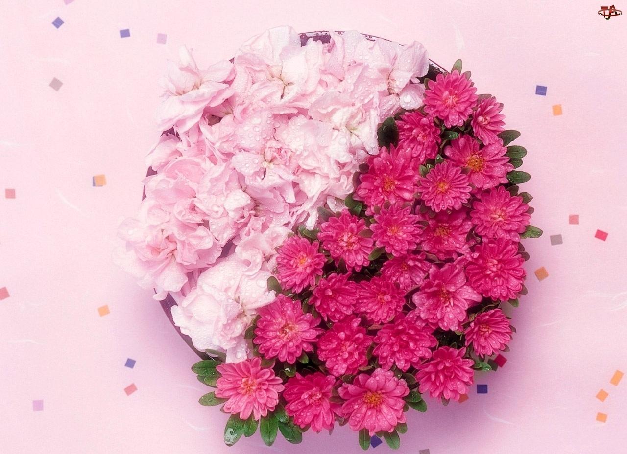 Kwiatków, Kompozycja, Różowych
